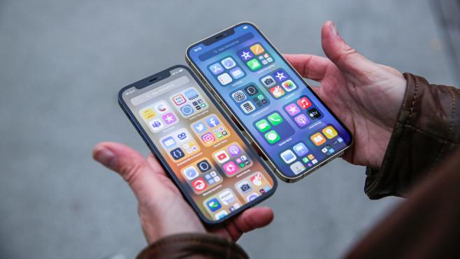 Apple iPhone 12 Pro Max vs. 12 Pro©COMPUTER BILD