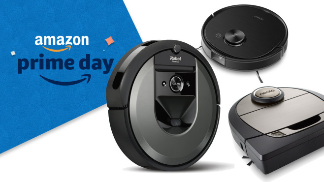 Prime Day: Saugroboter, Aufmacher © Amazon, iRobot, Neato, iRobot