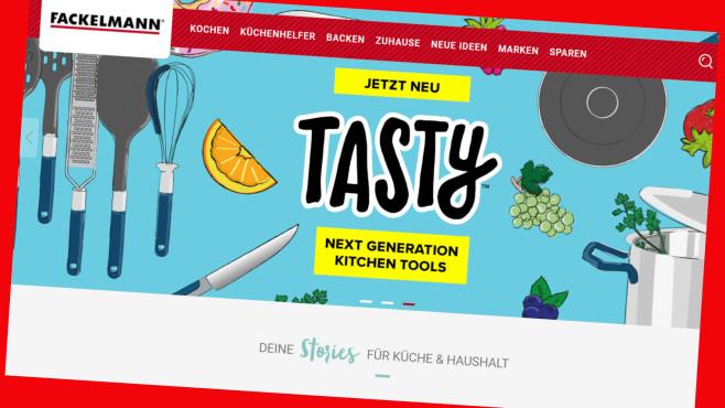 Fackelmann: Online jetzt alles 20 Prozent günstiger©Screenshot www.fackelmann.de