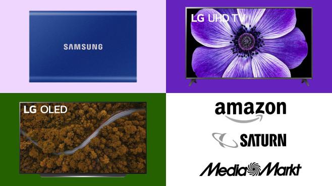 Amazon, Media Markt, Saturn: Top-Deals des Tages!©Amazon, Media Markt, Saturn, Samsung, LG