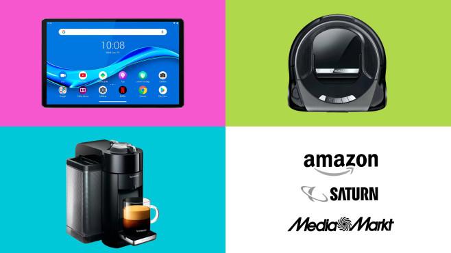 Amazon, Media Markt, Saturn: Top-Deals des Tages!©Amazon, Saturn, Media Markt, Lenovo, Bosch, De'Longhi