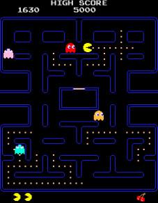 Geschicklichkeitsspiel Pac Man