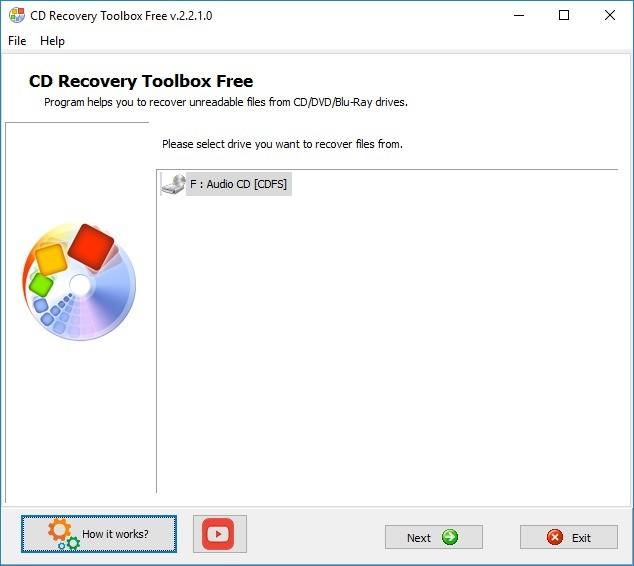 Screenshot 1 - CD Recovery Toolbox Free