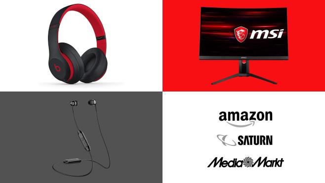 Amazon, Media Markt, Saturn: Top-Deals des Tages!©Amazon, Saturn, Media Markt, Beats, MSI, Sennheiser