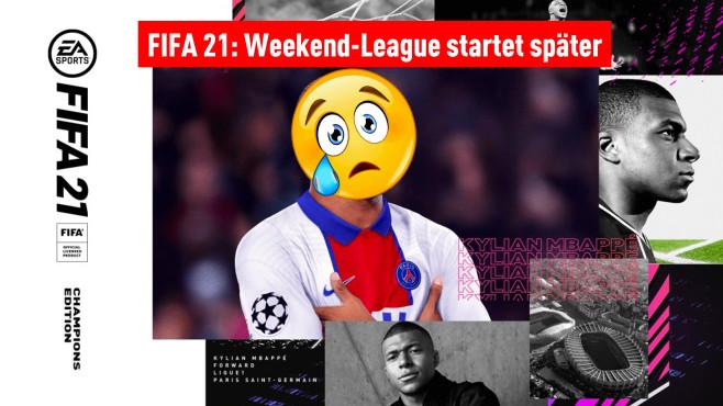 Collage aus FIFA-21-Bildern: Weekend League startet später©CR: EA Presse, Pinterest