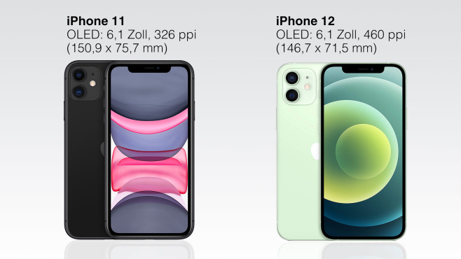 iPhone 11 vs. 12 © Apple/Montage: COMPUTER BILD