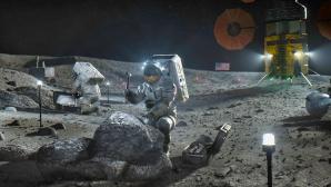 Astronauten auf dem Mond©NASA