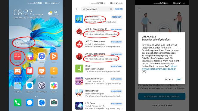 App-Suche mit dem Huawei Mate 40 Pro©COMPUTER BILD, Michael Huch