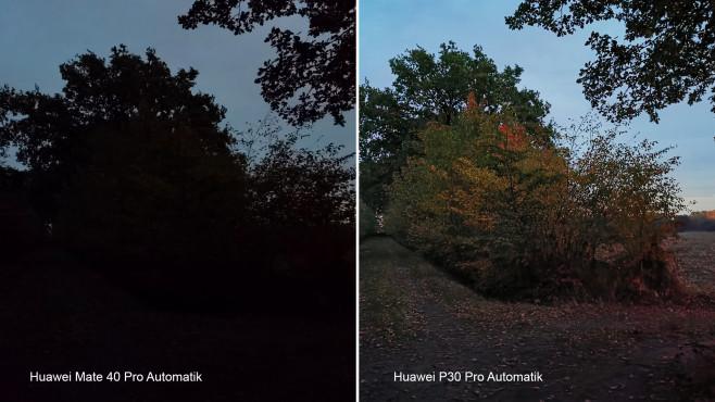 Huawei Mate 40 Pro versus P30 Pro: Automatik-Aufnahme©COMPUTER BILD, Michael Huch