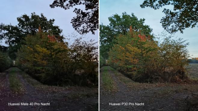 Huawei Mate 40 Pro versus P30 Pro: Nacht-Aufnahme©COMPUTER BILD, Michael Huch