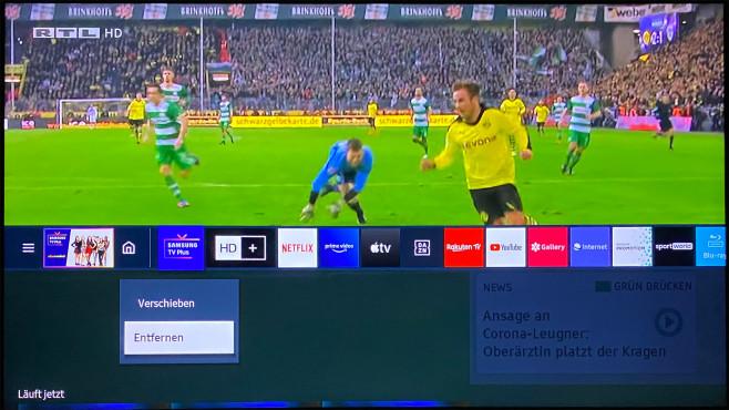 Die eher nutzlose Samsung TV Plus App lässt sich einfach löschen.©COMPUTER BILD