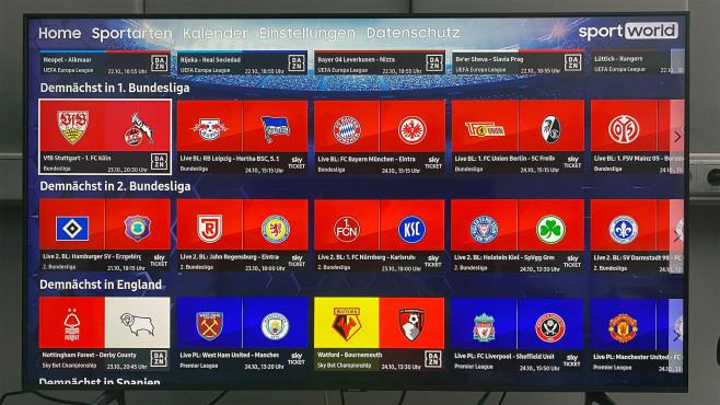 Schön für Sport-Fans: Die Sportworld-App zeigt kommende Übertragungen und welcher Anbieter sie im Programm hat.©COMPUTER BILD
