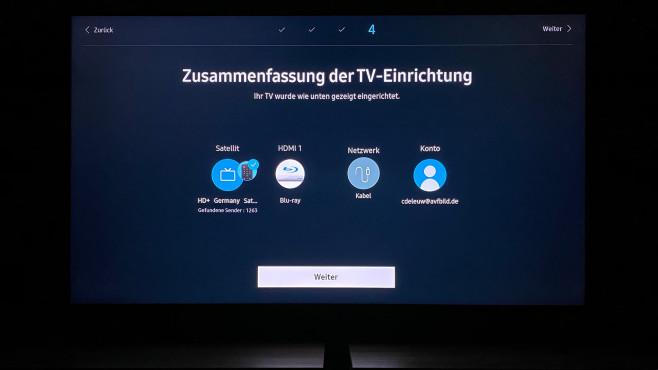 Zum Ende der Erstinstallation fasst der Samsung-Fernseher die wichtigsten Einstellungen zusammen.©COMPUTER BILD