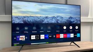 Samsung GU55TU7079: Im Test war die 55 Zoll oder 140 Zentimeter gro�e Version von Samsungs g�nstigster Fernseher-Modellreihe TU7079.©COMPUTER BILD