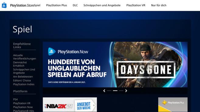 Das alte Design des PlayStation Stores©Sony