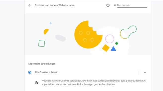 Cookies-Ratgeber: Die besten Tipps für Firefox und Google Chrome Die Google-Chrome-Cookie-Einstellungen bieten verschiedene Varianten. Erlauben Sie sämtliche Cookies, legen Sie optional Ausnahmen fest, wobei Sie Seiten das Speichern von Datenkeksen verbieten (Blacklisting). Umgekehrt ist ein Whitelisten möglich: Möchten Sie Cookies generell blockieren, verbieten Sie sie per entsprechender Option und definieren Ausnahmen mit einer URLs-Liste.©COMPUTER BILD