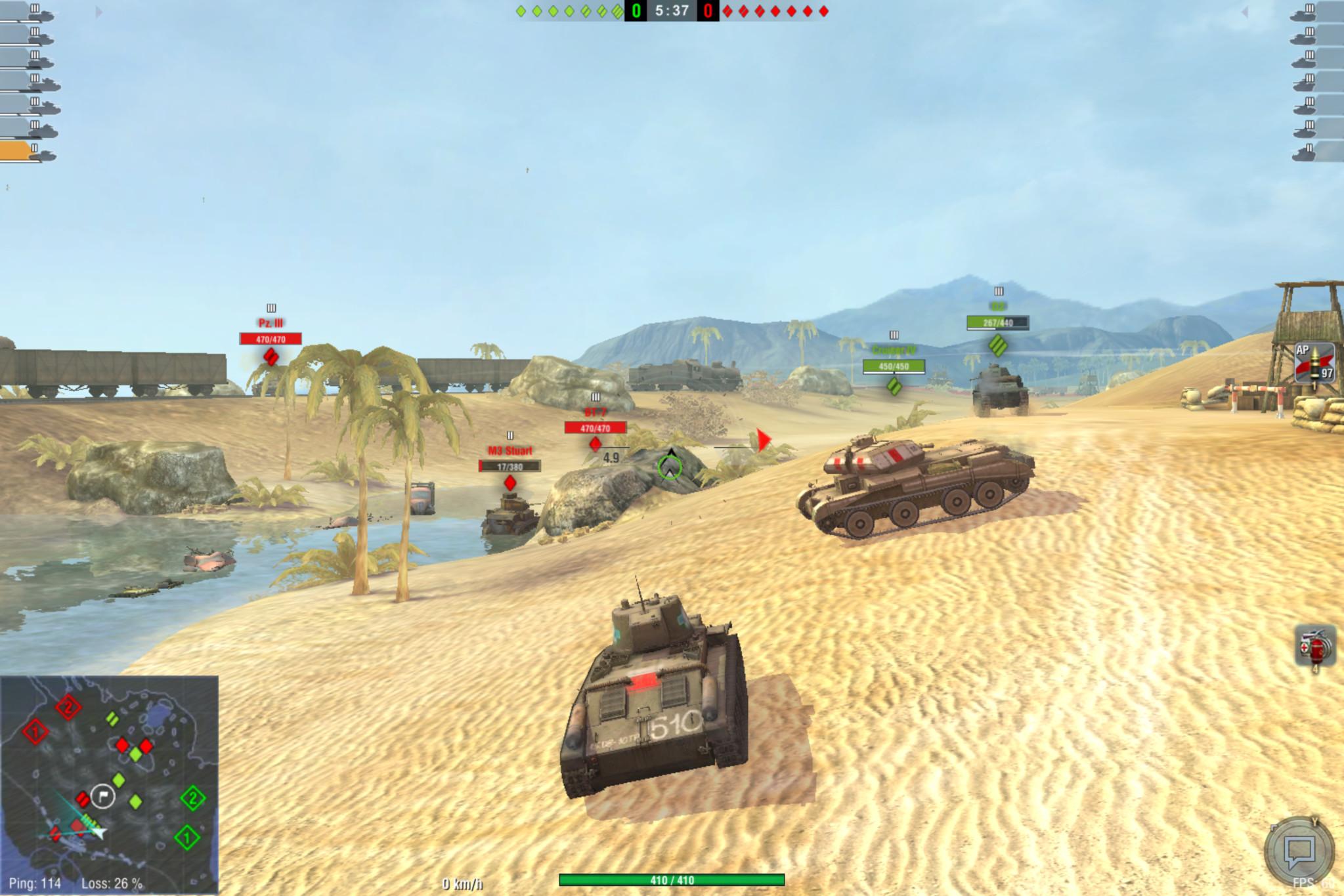 Screenshot 1 - World of Tanks Blitz