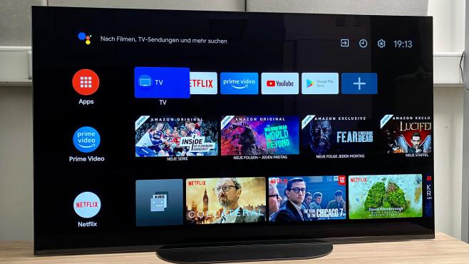 Der Sony A9 arbeitet mit dem Android-TV Betriebssystem in der aktuellen Version 9.©COMPUTER BILD