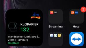 Klopapier-Widget zeigt Klopapierrollen in dm-Filiale©COMPUTER BILD