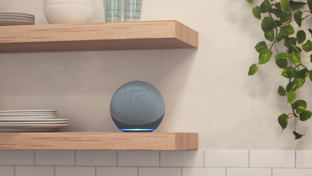 Amazon Echo 2020 in einem Regal