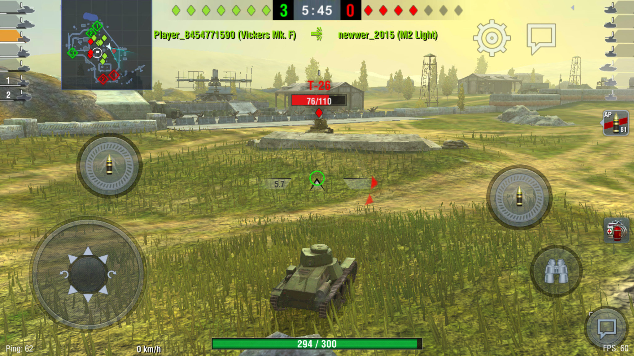 Screenshot 1 - World of Tanks Blitz (Android-App)