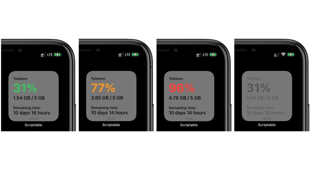 Telekom: Dieses Widget zeigt den Datenverbrauch an