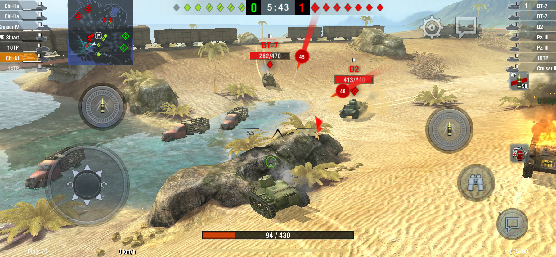 Screenshot 1 - World of Tanks Blitz (App für iPhone & iPad)