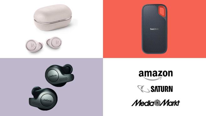 Amazon, Media Markt, Saturn: Top-Deals des Tages!©Amazon, Media Markt, Saturn, Bang & Olufsen, Jabra, SanDisk