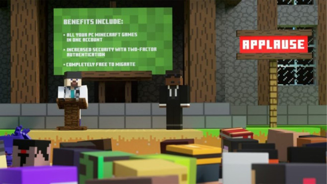 Minecraft Zwangs-Umstellung©Mojang, Microsoft