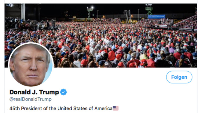 Trump: Twitter-Account©Twitter.com