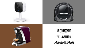 Amazon, Media Markt, Saturn: Top-Deals des Tages! © Amazon, Media Markt, Saturn, Tchibo, Saeco, Anker, Eufy, Bosch