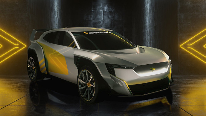 E-Rennauto für SuperCharge©SuperCharge Group Limited