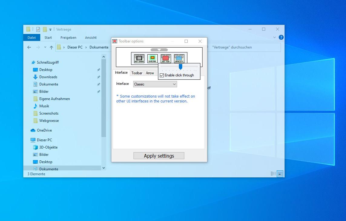Screenshot 1 - WindowTop