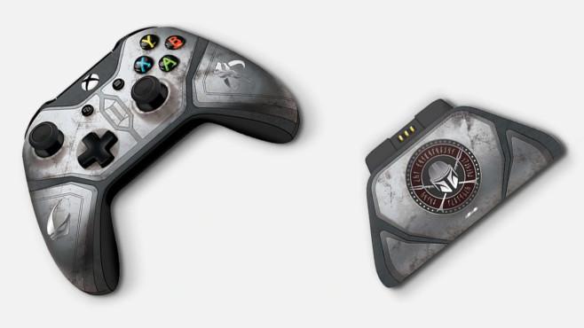 Xbox Wireless Controller mit Xbox Pro Ladeständer im Mandalorianer-Design©Microsoft