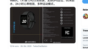 Xiaomi Mi Watch Lite©Xiaomi / twitter.com