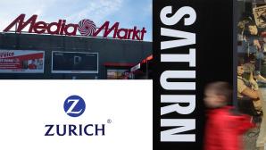 Media Markt und Saturn mit Zurich-Versicherung©iStock.com/Photonews, iStock.com/Sean Gallup, Zurich