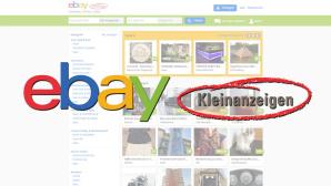Ebay-Kleinanzeigen-Logo mit Angeboten im Hintergrund©Ebay