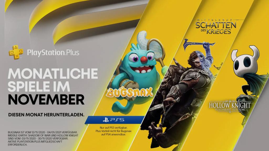 PS Plus im November 2020: Das sind die Gratis-Spiele für PS4 und PS5