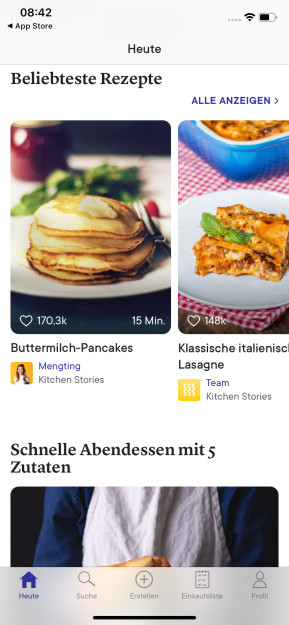 Kitchen Stories Rezepte (App für iPhone & iPad)