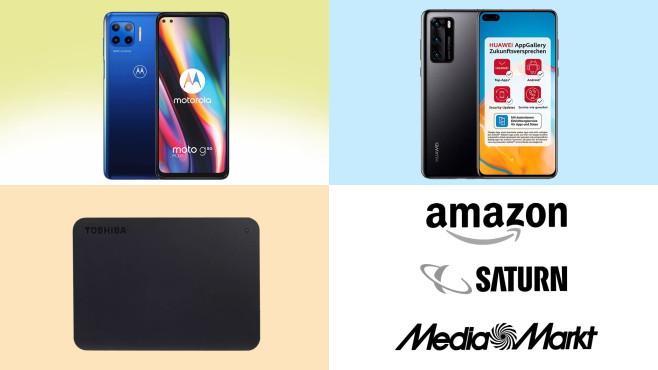 Amazon, Media Markt, Saturn: Top-Deals des Tages!©Amazon, Saturn, Media Markt, TOSHIBA, Huawei, Motorola