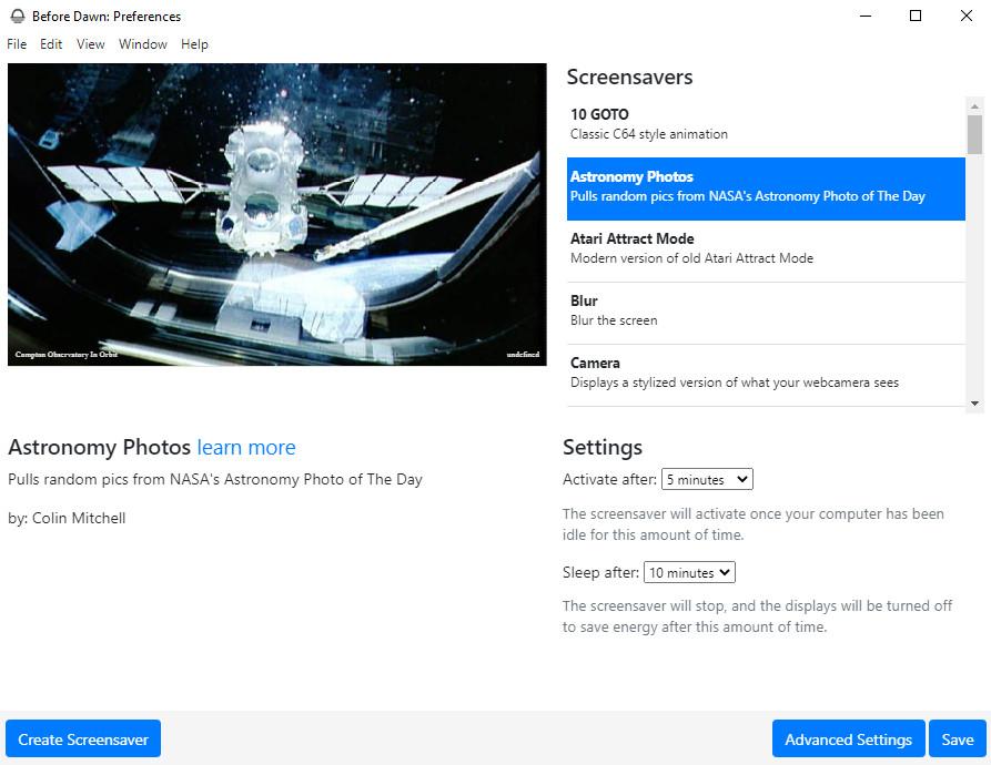 Screenshot 1 - Before Dawn: Eigenen Bildschirmschoner erstellen
