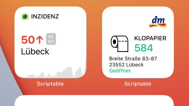 Screenshots zweier Widgets in iOS 14 © COMPUTER BILD