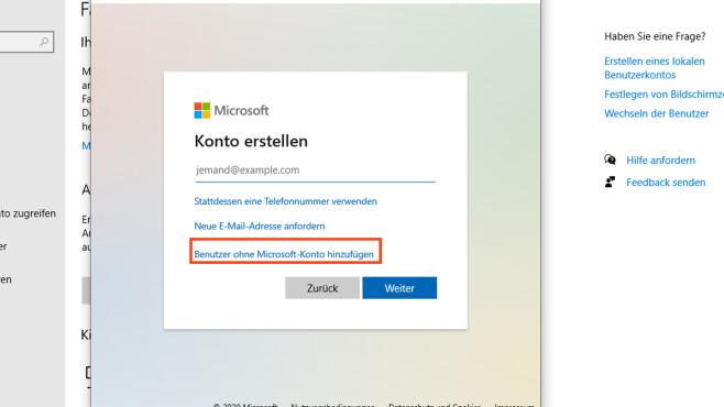 Windows 10 Benutzerkonto erstellen©COMPUTER BILD
