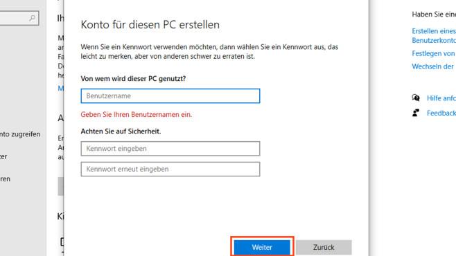 Windows Nutzerkonto anlegen©COMPUTER BILD