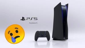 PlayStation 5 und Controller neben traurigem Smiley©Twitter.com/Bosslogic/