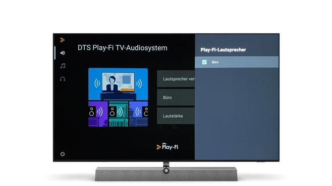 Der Philips OLED935 lässt sich mit WLAN-Lautsprechern vernetzen, die wie der Fernseher mit DTS Play-fi ausgestattet sind.©Philips, COMPUTER BILD