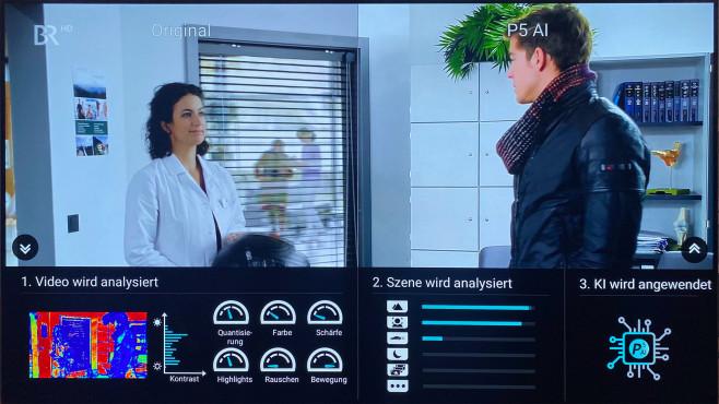 Im Demo-Modus zeigt der Philips OLED935, wie die künstliche Intelligenz arbeitet©COMPUTER BILD