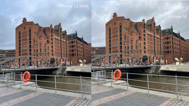 iPhone 12 mini vs SE im Fotovergleich©COMPUTER BILD