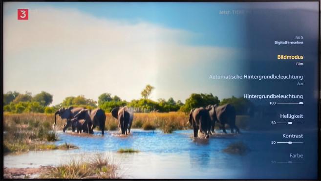 Mit dem Bildmodus Film bietet der OK. ODL55750 eine Voreinstellung im Menü mit natürlichen Farben.©COMPUTER BILD