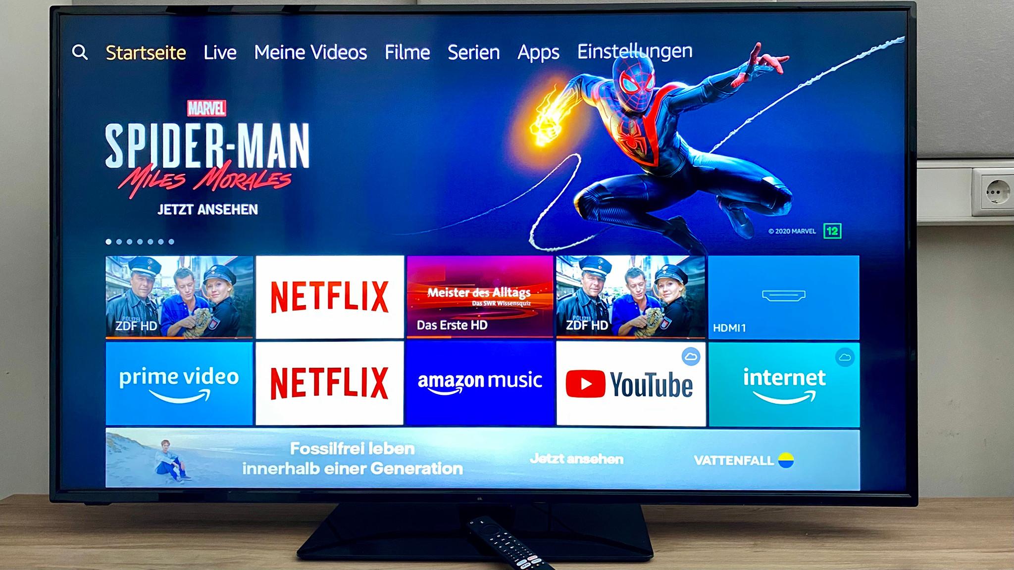 OK. ODL55750 Fire TV Edition im Test: Der Startbildschirm bietet das von Fire-TVs gewohnte Bild.©COMPUTER BILD